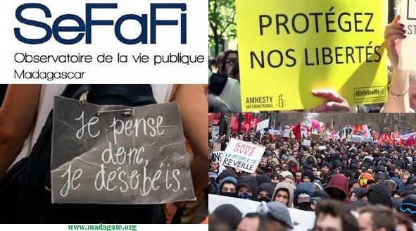 Madagascar SeFaFi: Restrictions aux libertés de réunion et de manifestation, encore et toujours