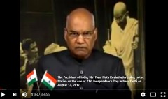 India: 70 years of Independence. President Kovind's Address to the Nation